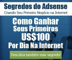 Banner com o link para o curso Segredos do Adsense